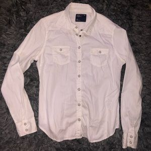 5/$20 American Eagle size large white button up
